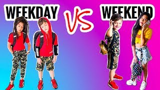 OUR WEEKDAY VS. WEEKEND OUTFITS   Familia Diamond