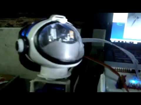 lita the humanoid robot on progress (head part)