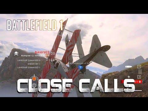 Battlefield 1 - Close calls - Attack plane