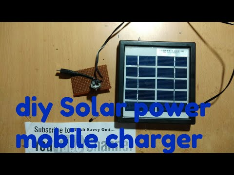 diy solar power mobile charger