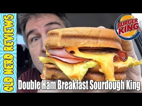 Burger King Double Ham Breakfast Sourdough King REVIEW 🐷🍔