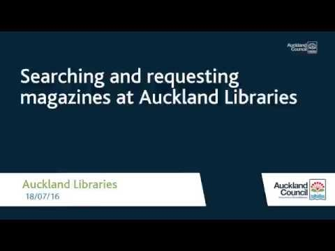 Searching and requesting magazines at Auckland Libraries