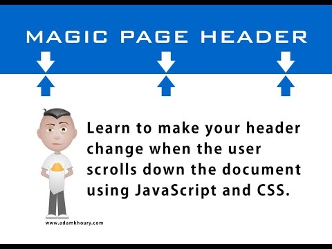 Magic Header Scroll Page Tutorial JavaScript CSS HTML