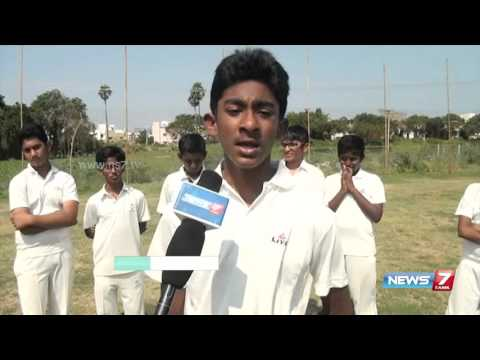 St Johns school wins state level under 13 cricket in Chennai   News7 Tamil