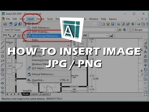 Autocad - How To Insert Image (PNG or JPG)