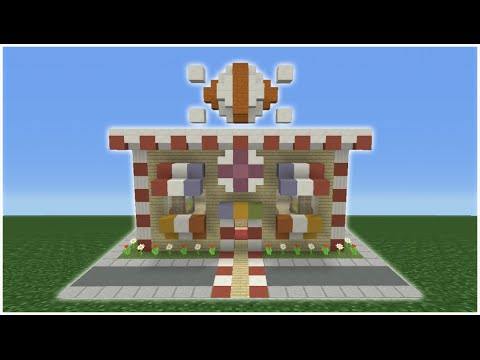 Minecraft Tutorial: How To Make A Candy Shop