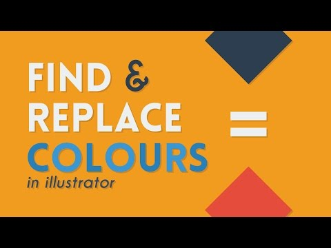 Find & Replace Colours | Illustrator Tutorial