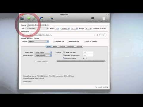 How to convert DVD's with Handbrake