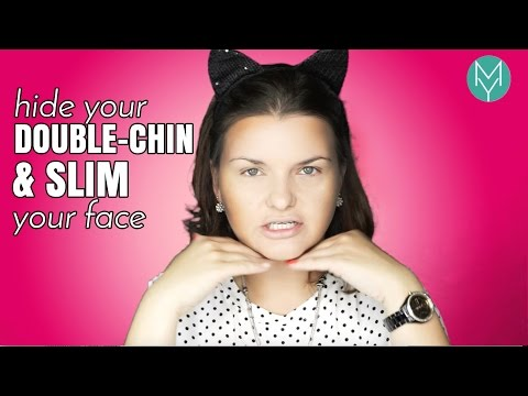 HIDE YOUR DOUBLE CHIN WITH MAKEUP and slim a ROUND FACE