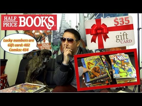 $30 Half Price Books Gift Card and April 2018 Comic Book Giveaway Winners!