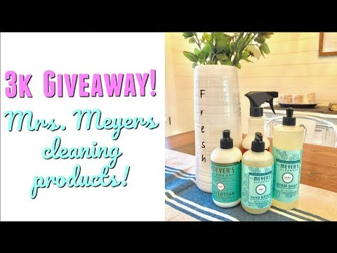 *CLOSED* 3K SUBSCRIBER GIVEAWAY | MRS MEYERS CLEANING PRODUCTS | THANK YOU!