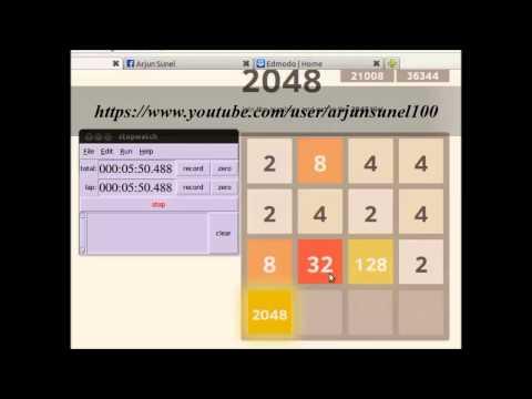 4096 tile in 2048 game in 16 min 25 sec