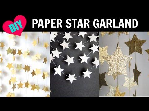 DIY Star Paper Garland Room Decor
