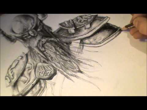 Elder Scrolls online speed drawing (skyrim music) - (720p HD)