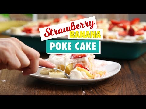 Strawberry Banana Poke Cake Recipe