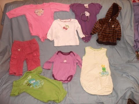 LOT OF 8 BABY INFANT GIRLS SIZE 0-9 MONTHS CLOTHES OUTFITS CARTER'S PIPER BABY