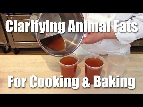Clarifying Animal Fat For Cooking & Baking