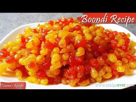 Sweet Boondi Recipe | How to Make Boondi | Boondi Sweet | Bengali Sweets \ Desserts - Bonde Recipe