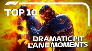 Top 10 Moments of Pit Lane Drama