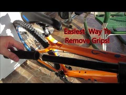 How to remove handlebar grips.