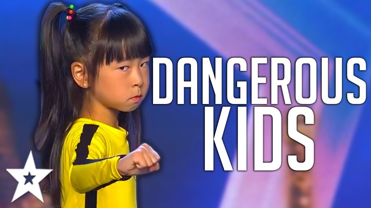 CRAZY KIDS   Dangerous STUNT Auditions On America, Spain's Got Talent And MORE!   Got Talent Global