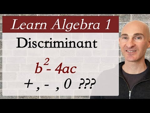 Discriminant How Many Solutions? (Learn Algebra 1)