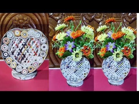 Newspaper Flower Vase DIY Newspaper Crafts  Best out of Waste (LifeStyle Designs Unique Idea)