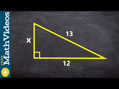 Finding the missing length of a triangle using pythagorean theorem
