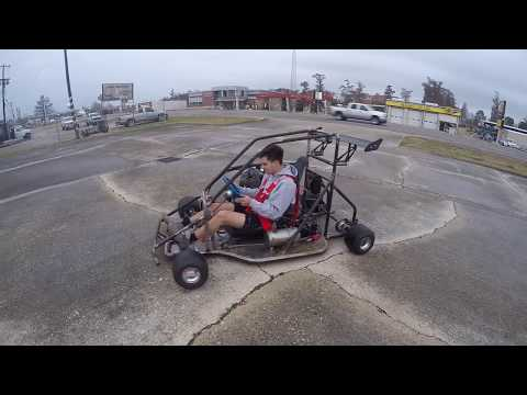 First ride in the 1000cc race kart build
