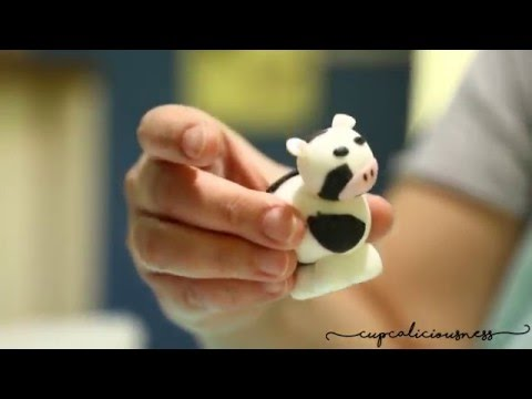 How to make a Cow from fondant - farm animal