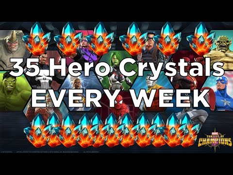 How to Farm 35 Premium Hero Crystals EVERY WEEK! [Marvel Contest of Champions]