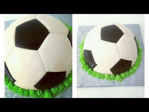 SOCCER BALL CAKE. How to make FOOTBALL CAKE. Cake for Boys