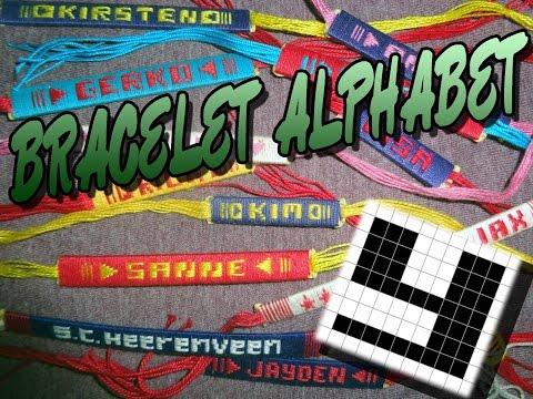 Friendship Bracelet Crochet Yarn, Alphabet: Letter Y