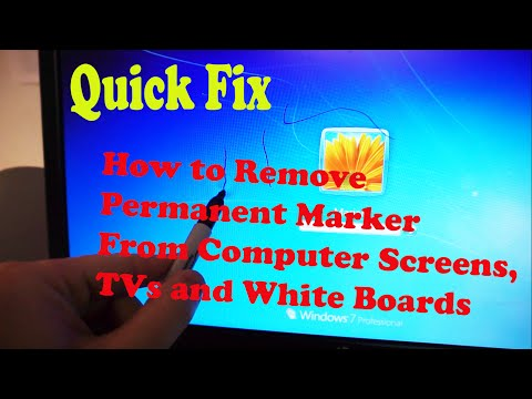 How to Remove Permanent Marker from TVs, Monitors & White Boards