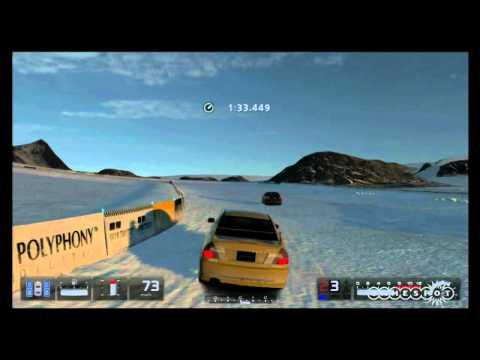 Gran Turismo 5 - Alaska Snow Track Gameplay Movie