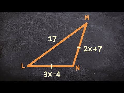 Finding the measure for each side of an isosceles triangle