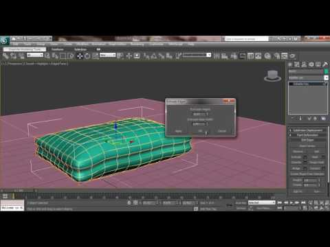 3ds Max House Modeling Tutorial: How to Model Pillow Design