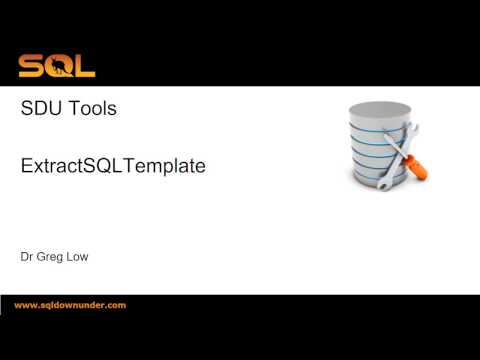 SDU Tools   26   Extract T-SQL Query Template for SQL Server