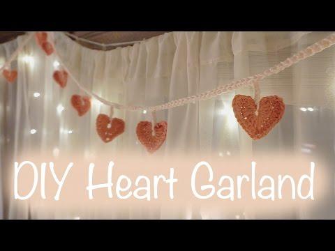 DIY Crochet Heart Garland