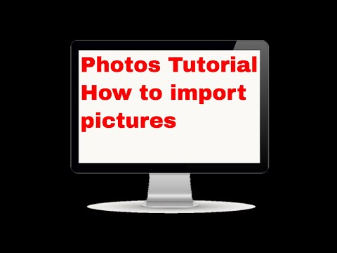 Photos Tutorial | How to import pictures into photos app on a mac