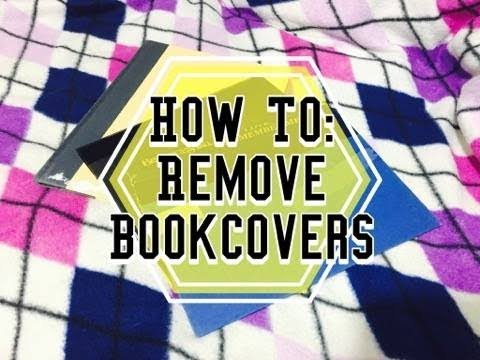 How To: Remove Book Covers for Journals