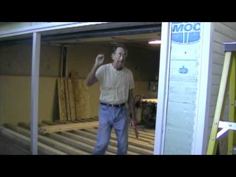 Garage Shop Conversion, Part 6 (Removing Garage Door & Build a Wall).mov