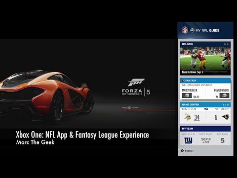 Xbox One: NFL App & Fantasy League Experience