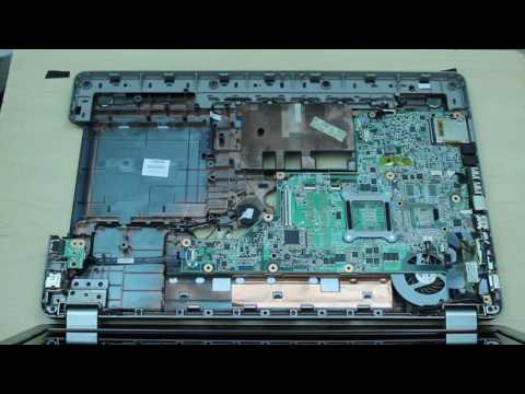 HP G72 G72-B60US Laptop disassembly remove motherboard/hard drive/ram/fan etc.