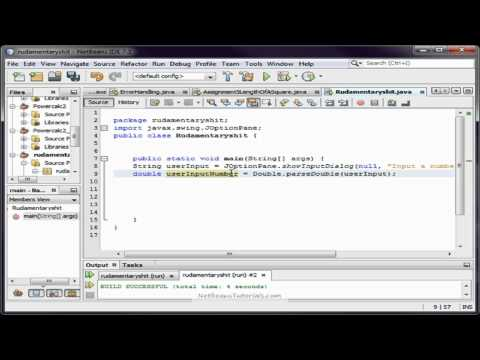 How to save user input In Netbeans with Java