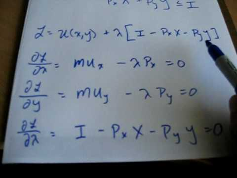 General Formulation on how to do Utility Maximization