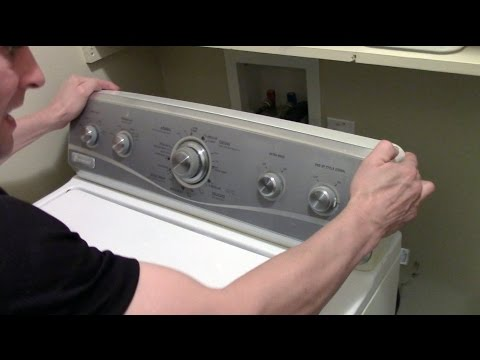 How to open or remove a Washer / Dryer Control Panel - Whirlpool Maytag washing machine
