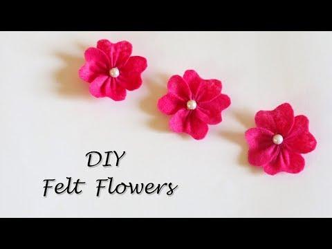 DIY Felt Flowers Tutorial | Easy Flower Making | Little Crafties