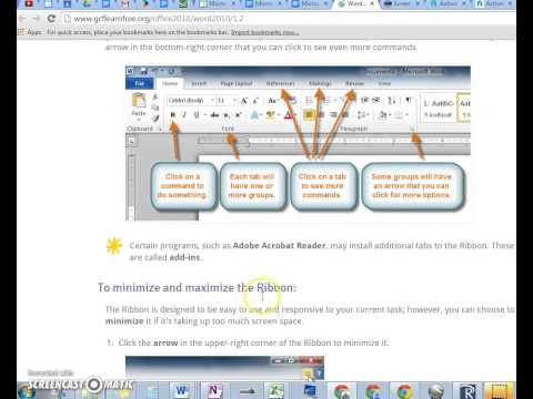 Microsoft Word eLearning Lessons