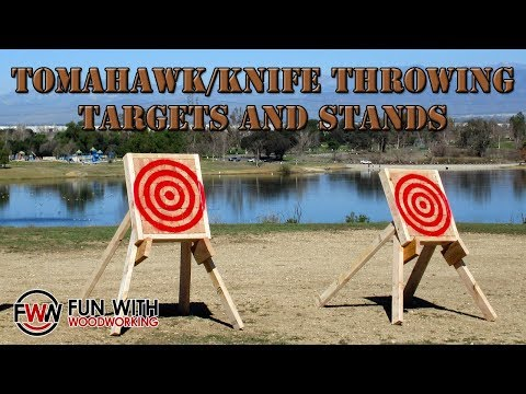 Project - Build Tomahawk/Knife throwing targets and stands